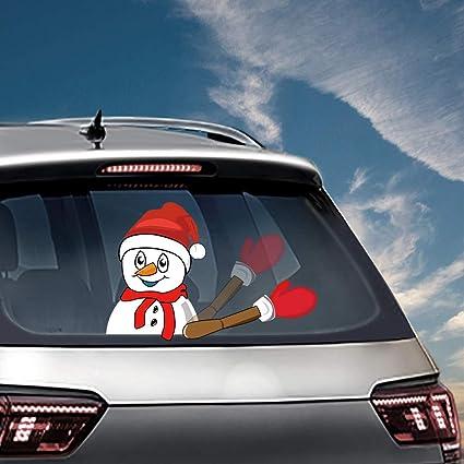Amazon Com Mofeng Christmas Rear Wiper Decal Sticker Cute