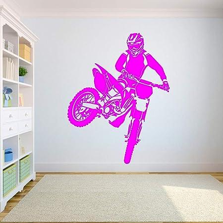 Crjzty Applique Murale Stickerwall Decal Motorcross Dirt