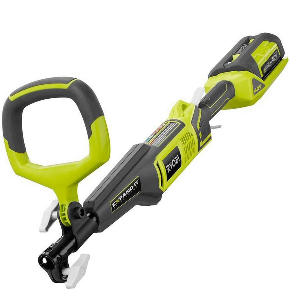 Ryobi 10 in. 40-Volt Lithium-Ion Cordless Pole Saw - 2.6 Ah Battery and Charger Included