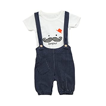5e858fb85ce61 キッズ Yochyan 子供 男の子 女の子 ベビー服 半袖 子供服 可愛い キュート トップス プリント プルオーバー ストラップ