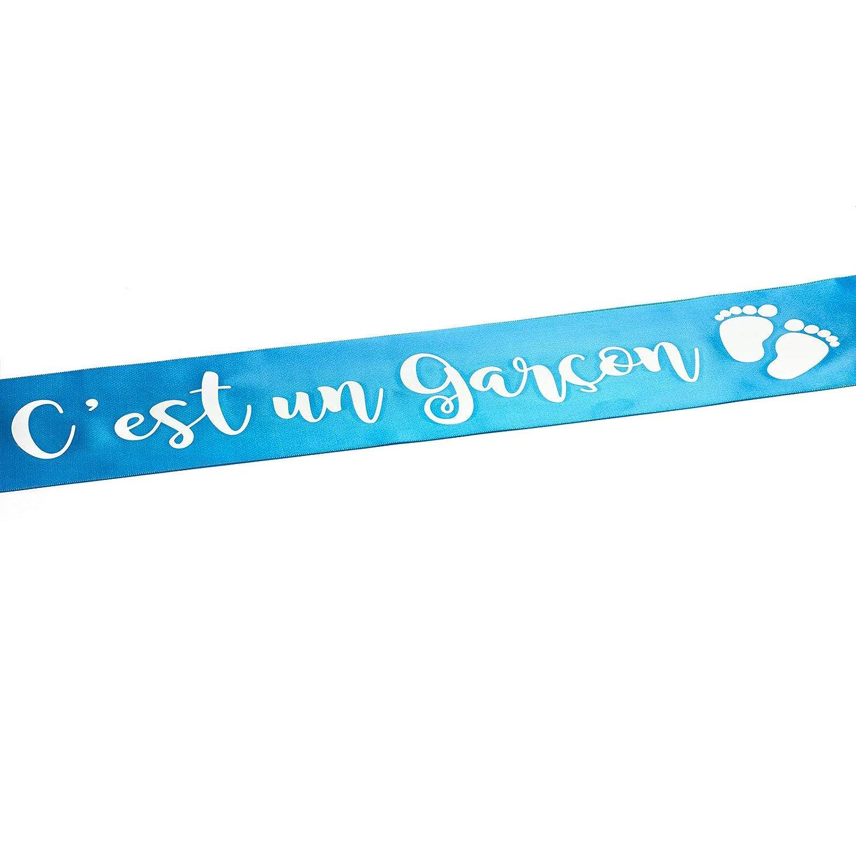 Bleu OLILLY Echarpe Cest Un Gar/çon pour Baby Shower