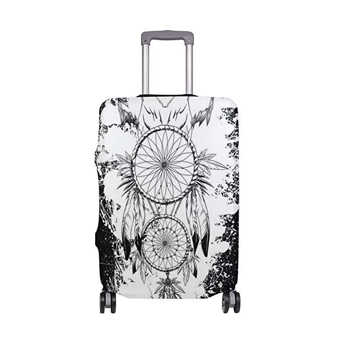Dreamcatcher Owl Travel Luggage Cover Spandex Washable Suitcase Protector Baggage Covers Fits 18 To 32 Inch