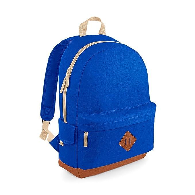 BagBase Unisex Heritage Colours School Backpack Black 6e00256385f0c