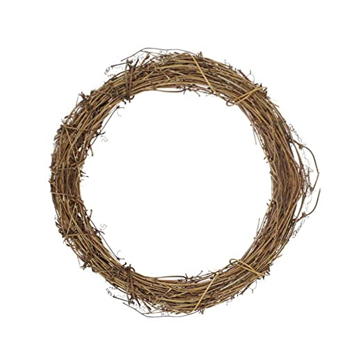 Blentude Christmas DIY Florist Decoration Earth Vine Wreath Natural Handmade Rattan Wicker Rattan Ring Knocker