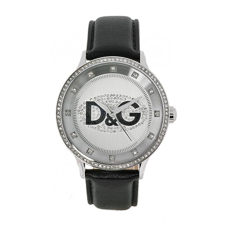 D&G Dolce&Gabbana Damen-Armbanduhr PRIME TIME BIG SS W-SWA SILVER DIAL W-BLACK BIG DW0503