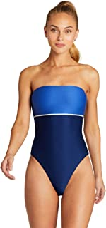 product image for Vitamin A Women's Blu Bar Stripe Marilyn Bandeau One Piece Swimsuit