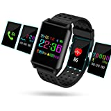 Smart Watch,Hizek Wearable Waterproof Wireless 4.0 LCD Touch Screen Fitness Watch with Pedometer Sleep Monitor for Android & iOS Smartphones