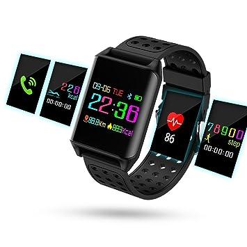 Montre Connecté, Hizek Fitness Tracker dActivité LCD Écran Tactile Smartwatch Étanche IP67 Montre