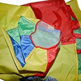 Sonyabecca Parachute for Kids 6' with 9 Handles