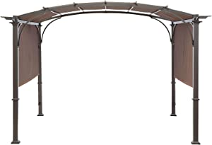 MASTERCANOPY Universal Doubleton Steel Pergola Replacement Cover for Pergola Structures L-PG080PST, 80''x 205'', Brown (Cover only)
