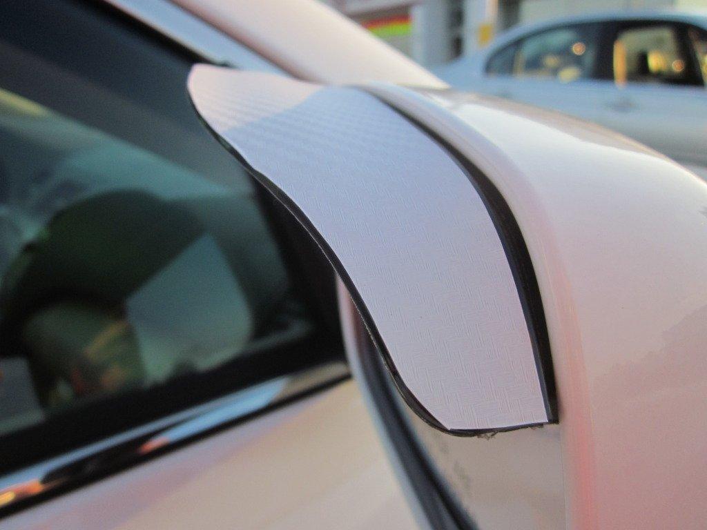 Amazon com 2003 2008 infiniti g35 white carbon fiber side mirror visor rain guards 2004 2005 2006 2007 03 04 05 06 07 08 sedan coupe automotive