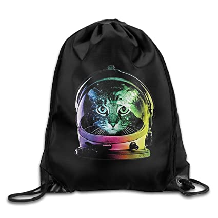 36d28584f296 Amazon.com  Best Space Cat Drawstring Backpack Cool Sports String ...