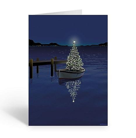 Amazon.com: Tarjeta de Navidad para barco – 18 tarjetas y ...