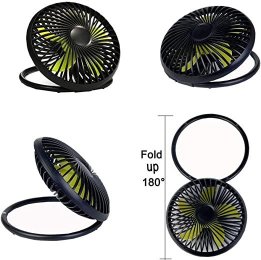 XRZMD Mini Ventilador de Escritorio Ventilador UFO Ventilador de Soporte Plegable Ventilador de baño Multiusos Ventilador de Oficina (Color : Negro): Amazon.es: Hogar