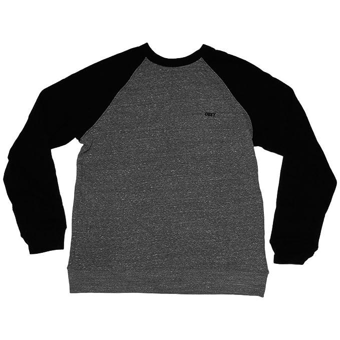 Obey - Sweat Shirt para Hombre Font - Heather Grey/Black: Amazon.es: Ropa y accesorios
