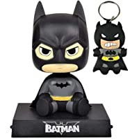 Blue Aura Superhero Batman Bobble Head with Stand & Mobile Holder (Height - 12 cm) Car Dashboard Office Desk Table Top with Box BTMN