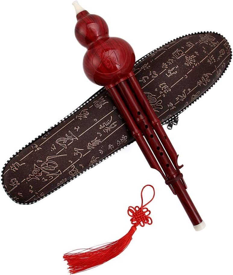 SSEDEW Chinese Traditional Hulusi Gourd Cucurbit Flute C//Bb Professional Ethnic Musical Instrument Bb Tone