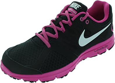 Nike Lunar Forever 2 - Zapatillas de running de sintético para niña Black/White-Fusion Pink, color negro, talla 6 UK: Amazon.es: Zapatos y complementos