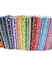 """56pcs/lot 9.8"""" x 9.8"""" No Repeat Design Printed Floral Cotton Fabric for Patchwork, Sewing Tissue to Patchwork"""