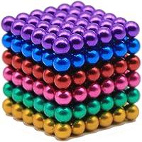 Magnetic Cube 216pcs 5mm Magnets Balls, Magnetic Sculpture Holders Square Cube Balls, Stress Relief Magic Cubes, Children's Puzzle  DIY Educational Toys, Multi-color