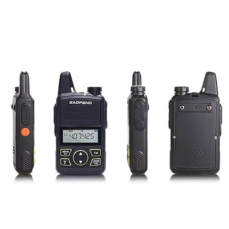 de3efb07cc2 Amazon.com  Original BAOFENG BF-T1 MINI Walkie Talkie UHF 400-470mhz Portable  Two Way Radio Ham Radio Micro USB Transceiver+Programming cable  Car ...