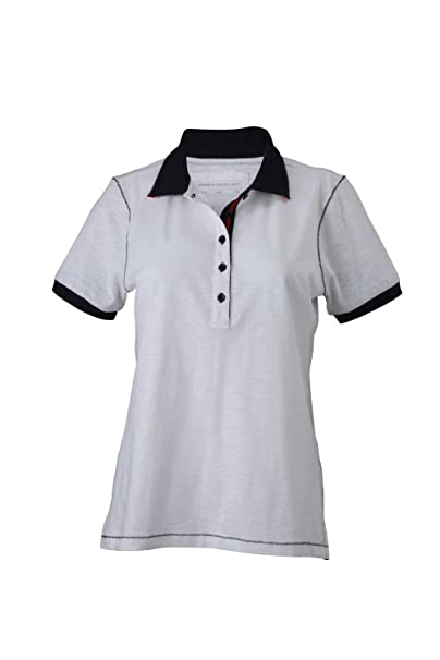 Camiseta Polo de moda hilados club Camiseta Polo Mujer urbano: Amazon.es: Ropa y accesorios