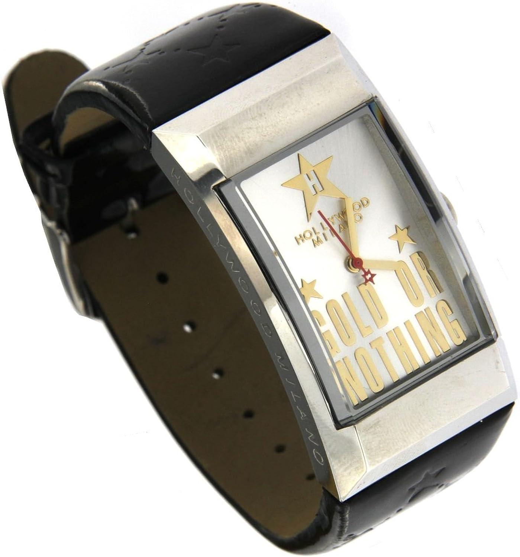 Hollywood Milano Reloj para Mujer de Acero con Caja Rectangular ...