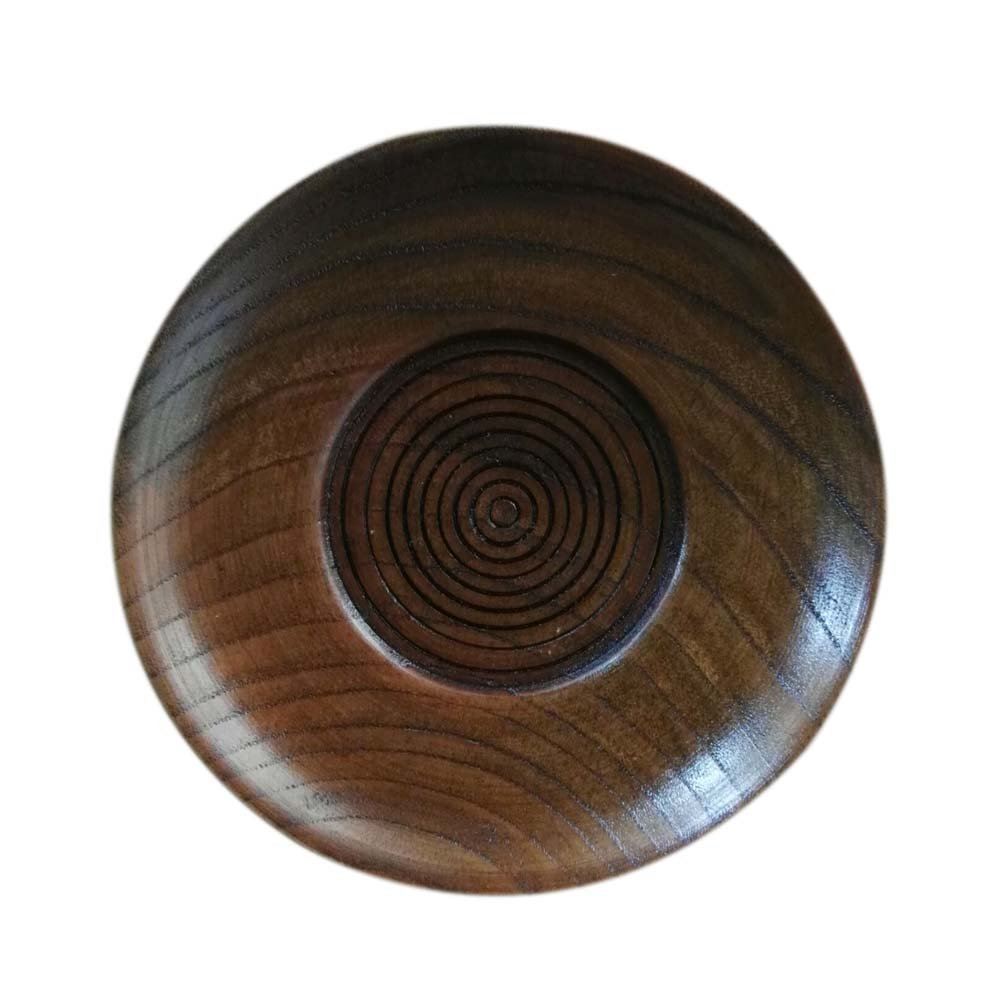 Set of 2 Exquisite Dessert Plate,Wooden Plate,Round Plate,10.5cm