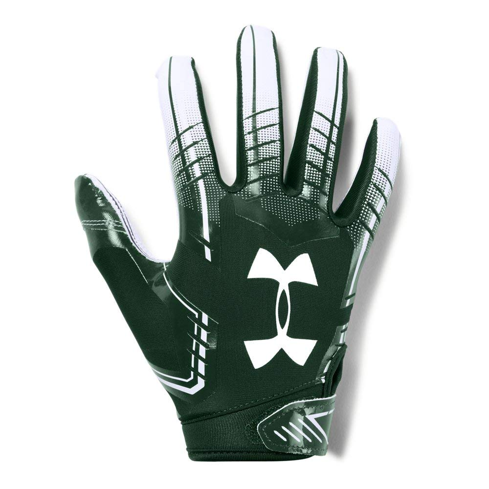 Under Armour Boys' F6 Youth Football Gloves, Forest Green (301)/White, Youth Small