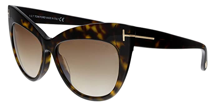 2f74efe53bb20 Image Unavailable. Image not available for. Color  Sunglasses Tom Ford FT  0523 Nika 52G dark havana brown mirror