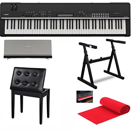 Yamaha CP4 88 Key Graded Hammer Stage Piano Bundle With Heavy Duty Piano  Stand