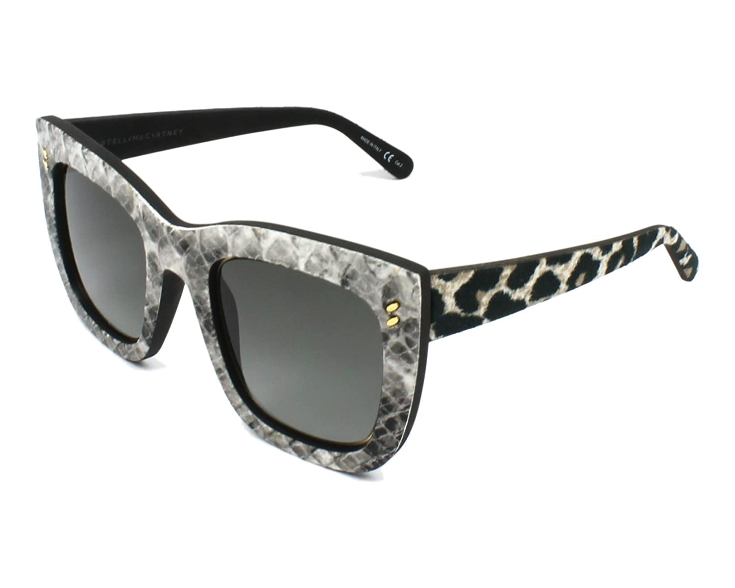 002 WHITE Sunglasses Stella McCartney SC 0067 S GREY YELLOW
