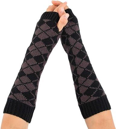 ZEZKT guantes de ciclismo para mujer al aire libre invierno caliente tejida sin dedos guantes largos guantes de algodón mujeres invierno manoplas de punto 216: Amazon.es: Ropa y accesorios