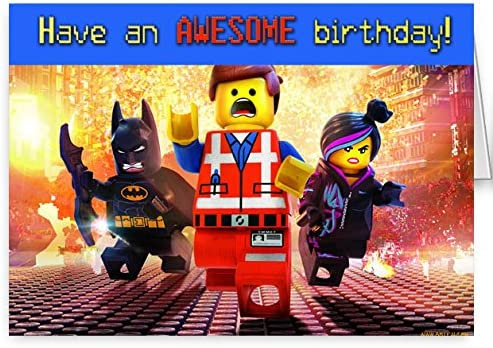 The Lego Movie Carte D Anniversaire Amazon Fr Cuisine Maison