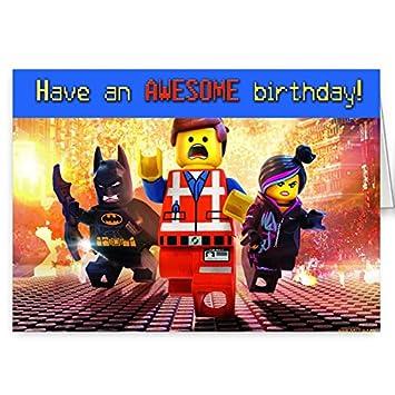 the lego movie birthday card Amazoncouk Kitchen Home