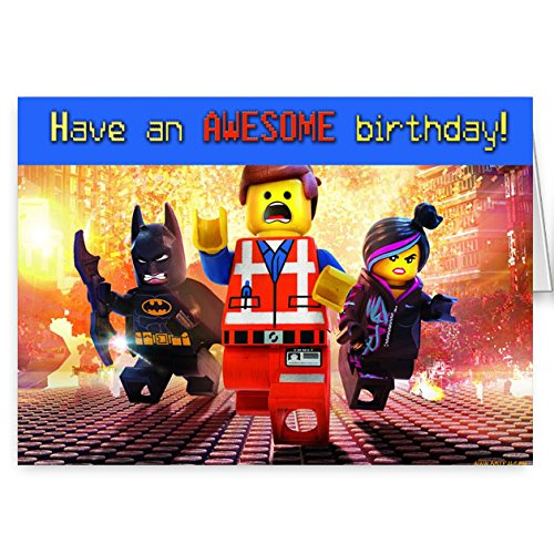 the lego movie birthday card Amazoncouk Kitchen Home – Lego Birthday Card