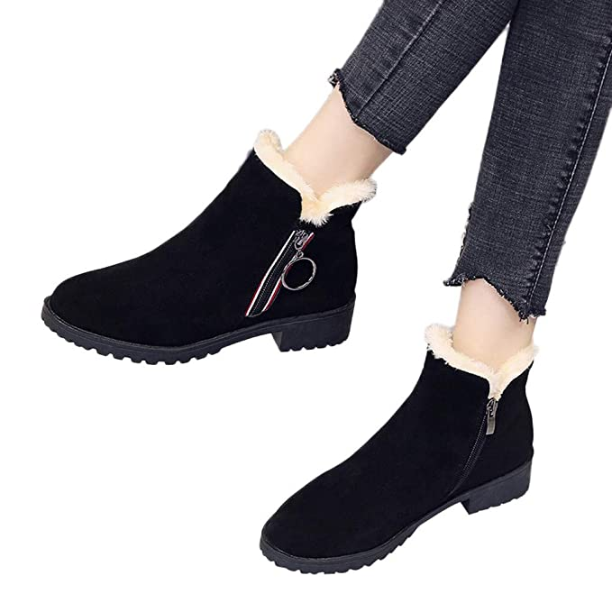 43b0d5f046cd3 Amazon.com: Winter Women Thermal Shoes,Women Solid Color Square ...