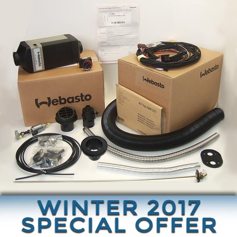 Webasto Heater Air Top 2000 STC 24v DIESEL full install kit 4111386B