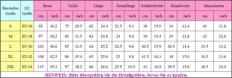 5bcaeb5aabbe SUNNOW Modisch Damen Shirt Kurzarm Revers Schlank Hemd Arbeit V ...