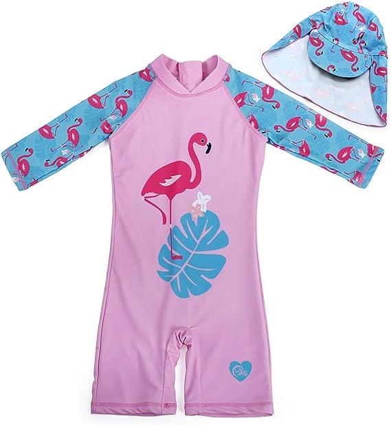 One Piece Baby Girls Boys Swimwear Swimsuit Sun suit Sun Protection UV UPF50