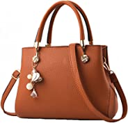 Jeniulet Purses and Handbags for Women Fashion Ladies PU Leather Top Handle Satchel Shoulder Tote Bags