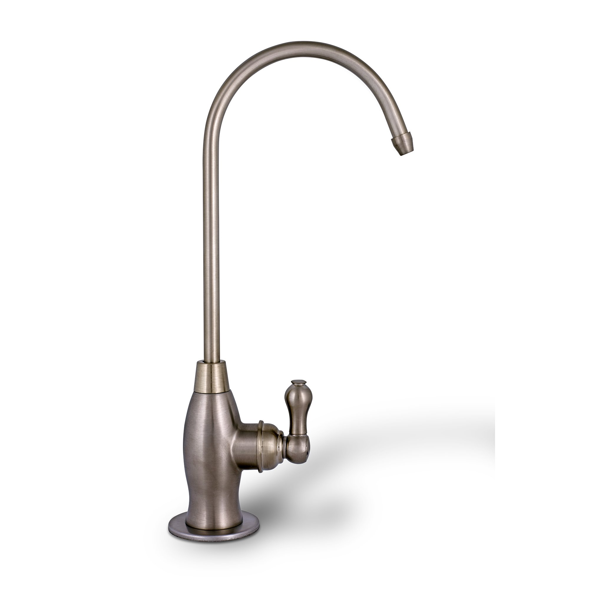 Goose-neck High Spout Cold Water Kitchen Drinking Faucet Dispenser Brushed Nickel