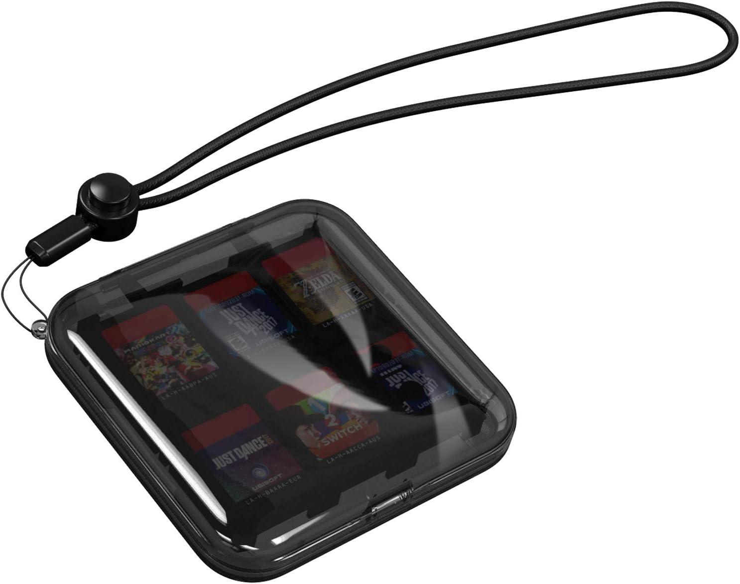 MoKo Caja Protectora Compatible con Tarjeta de Juego de Nintendo Switch, Bolsa PC Concha Dura Portátil con 12 Puestos de Cartucho de Juego, Estuche Transparente para Almacenar Game Cards: Amazon.es: Electrónica