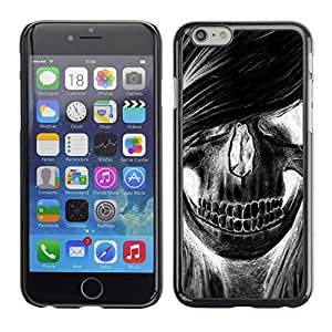 Eason Shop / Hard Slim Snap-On Case Cover Shell - Skull Girl Hair Grunge Music Death - For Apple Iphone 6 Plus 5.5