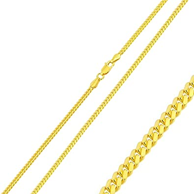 163aeb3c1325d Double Accent 1.8mm Sterling Silver Italian Chain Necklace 14K Gold ...