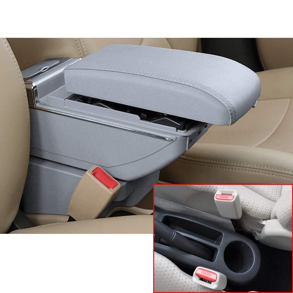 Per YARiS Di fascia alta Auto Bracciolo Accessori Con 7 Porte USB LED Incorporato Il corrimano pu/ò essere sollevato Nero