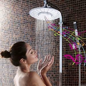 iRainy SH-BS07 Showerhead W Waterproof Wireless Bluetooth Speaker for Music & Phone Call in Bath - White