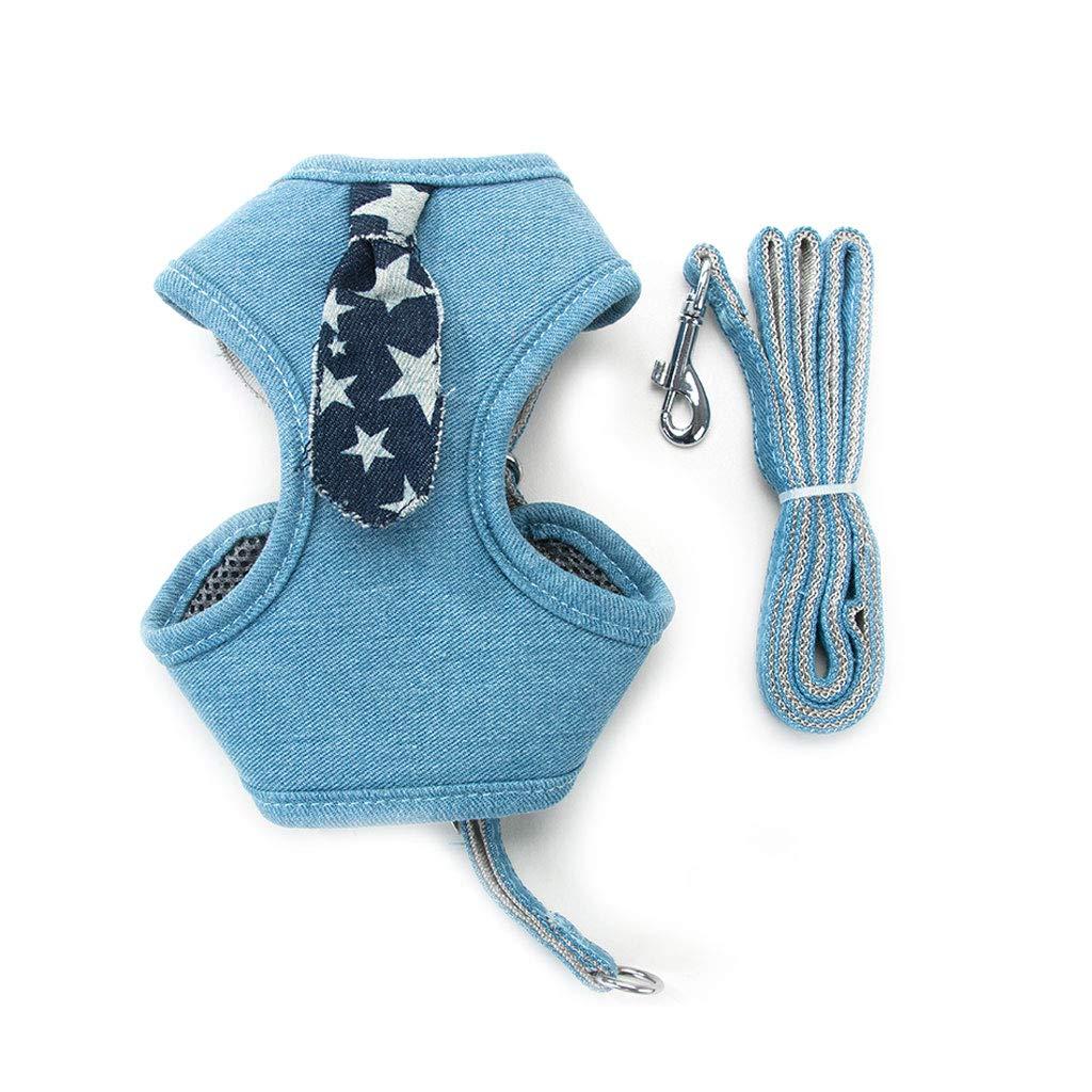 A M A M Pet Leash Hyena Rope Vest Dog Leash Pet Collar Dog Strap Dog Leash Medium Small Dog Pet Supplies (color   A, Size   M)