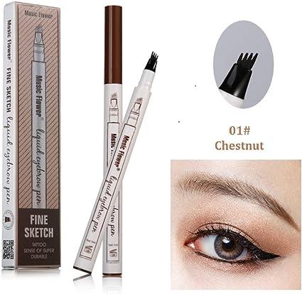 Bolígrafo para tatuaje de cejas de 3 colores de larga duración y resistente al agua, y tinte crema para maquillaje de ojos