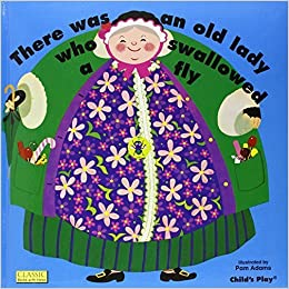 There Was an Old Lady Who Swallowed a Fly (Books with Holes) by Pam Adams (1982-10-01)
